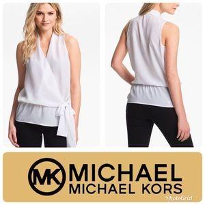 MICHAEL Michael Kors Sleeveless Cross Over Blouse
